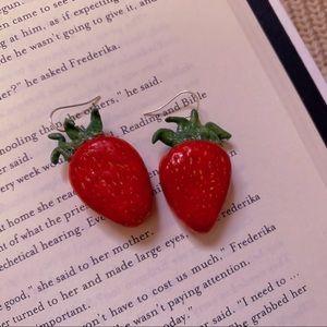 Handmade Strawberry Earrings
